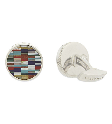 TATEOSSIAN Multi-coloured round Sterling silver cufflinks (Multi