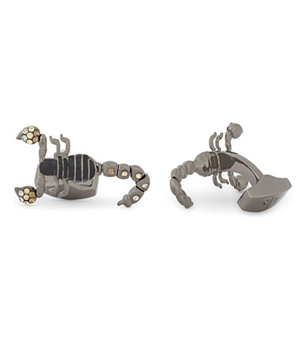 TATEOSSIAN Swarovski scorpion cufflinks (Gunmetal
