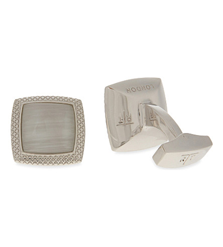 TATEOSSIAN Optic Quadrato cufflinks (White
