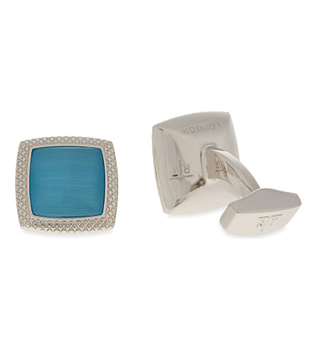 TATEOSSIAN Optic Quadrato cufflinks (Blue
