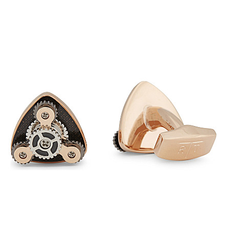 TATEOSSIAN Gear Trio rose gold plated cufflinks (Rose+gold