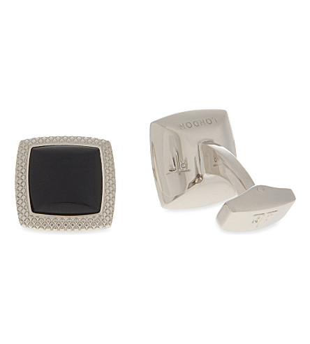 TATEOSSIAN Optic Quadrato cufflinks (Black