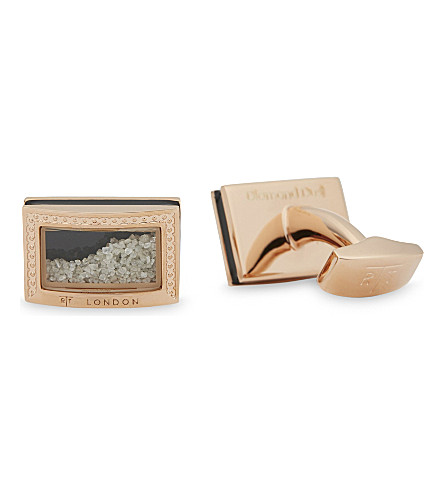 TATEOSSIAN Diamond dust cufflinks (Rose+gold