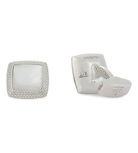 TATEOSSIAN Moonlight Quadrato cufflinks (White