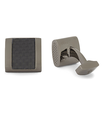 TATEOSSIAN Check cufflinks (Gunmetal