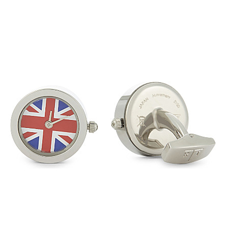 TATEOSSIAN British watch cufflinks (Rhodium