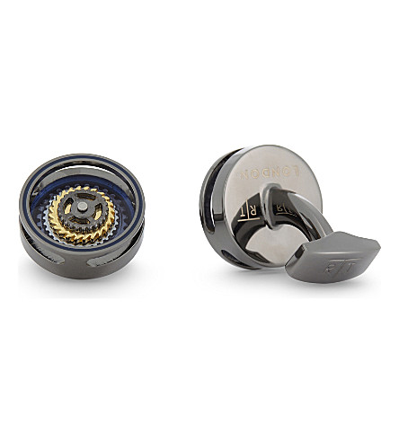 TATEOSSIAN Bullseye Gear cufflinks (Blue