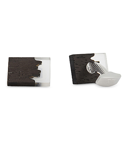TATEOSSIAN Fusion cufflinks (Brown