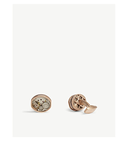 TATEOSSIAN 桶骨架玫瑰金袖扣 (玫瑰 + 金