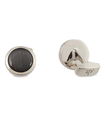 TATEOSSIAN Fibre optic cufflink set (Black
