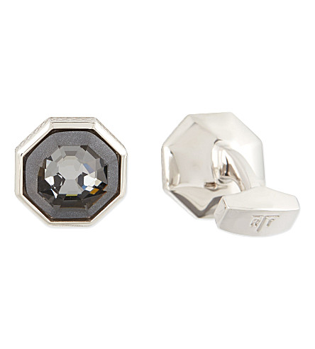TATEOSSIAN Rotondo Guilloché cufflinks and shirt studs set (Grey