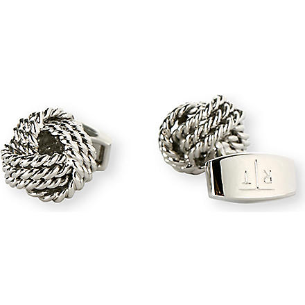 TATEOSSIAN Round knot cufflinks (Rhodium