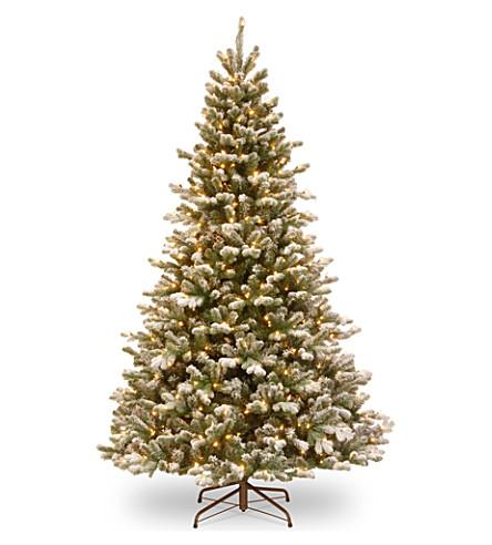 TREE Snowy sheffield 7ft lit Christmas tree