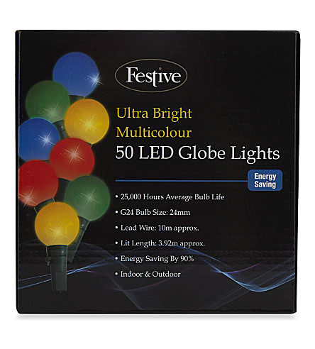 OUTDOOR LIGHTS 50 LED globe lights