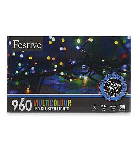 INDOOR LIGHTS 960 multicoloured cluster lights