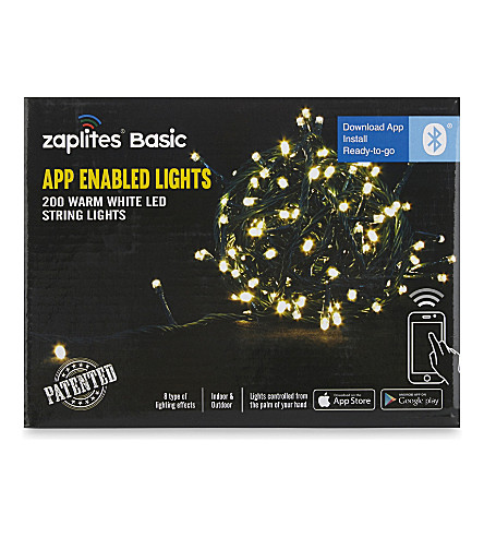 INDOOR LIGHTS App-enabled warm white LED lights 200