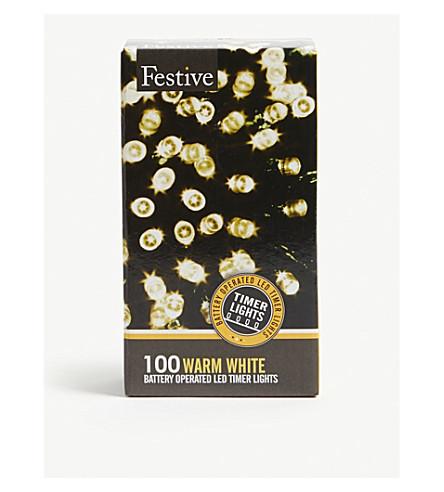 圣诞节100暖白色 LED 灯