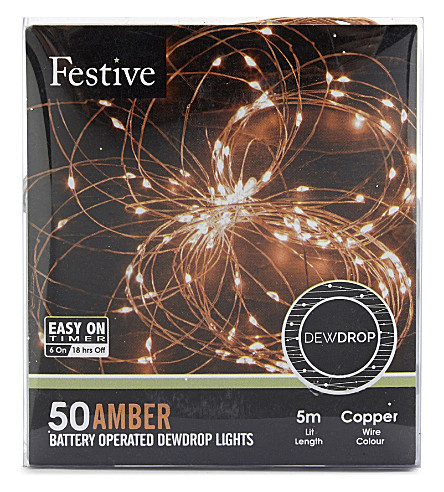OUTDOOR LIGHTS 50 amber dewdrop lights