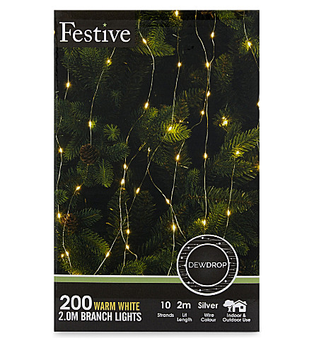 OUTDOOR LIGHTS 200 warm white branch lights
