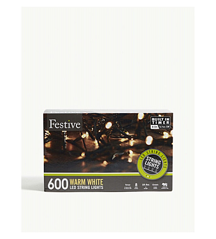 OUTDOOR LIGHTS 600 warm white LED lights