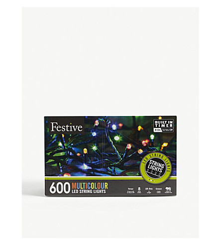 CHRISTMAS 600 multi-colour LED light string
