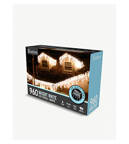 CHRISTMAS 960 LED snowing icicle lights