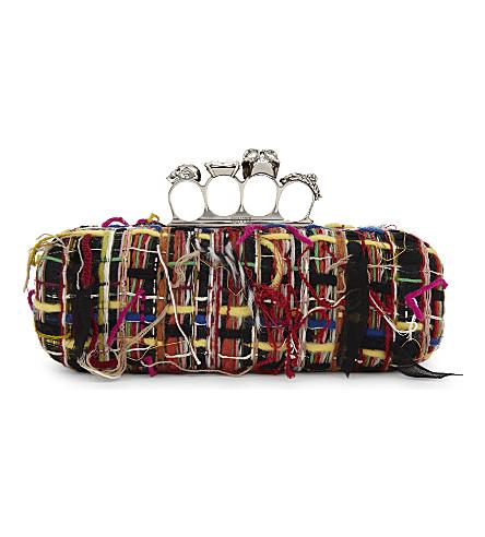 ALEXANDER MCQUEEN Tweed clutch (Multi