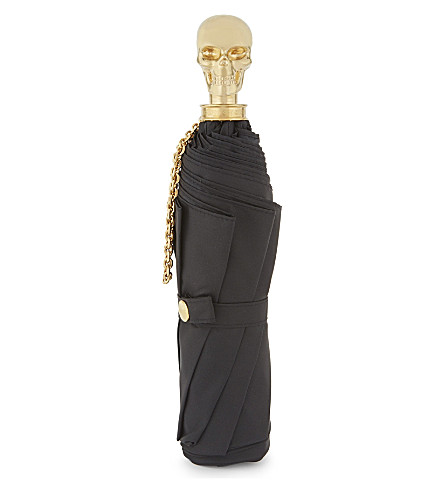 ALEXANDER MCQUEEN Skull umbrella (Black+gold
