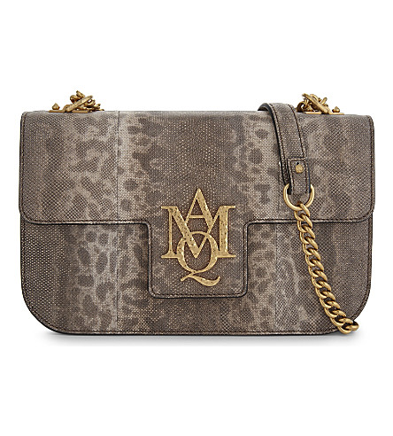 ALEXANDER MCQUEEN Insignia leather satchel (Nude