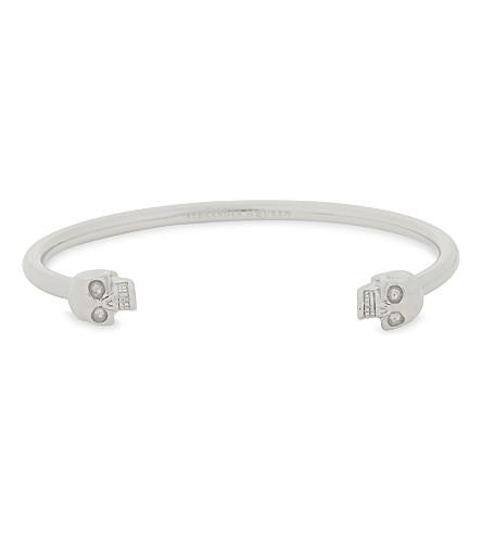 ALEXANDER MCQUEEN Twin skull bracelet (Silver