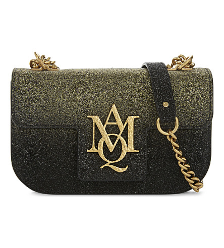 ALEXANDER MCQUEEN Insignia leather cross-body bag (Degrede+gold