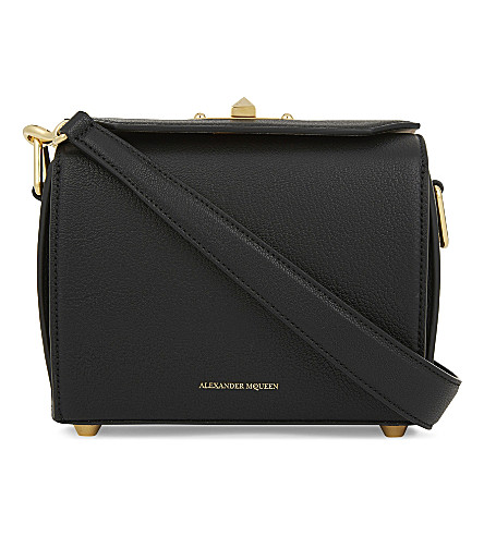 ALEXANDER MCQUEEN Box Bag 19 leather cross-body bag (Black