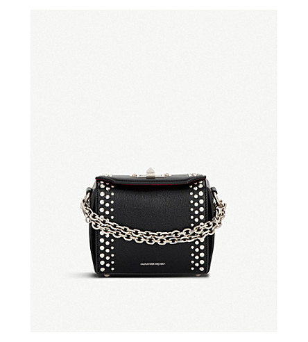 ALEXANDER MCQUEEN Box Bag 16 grained leather cross-body bag (Black