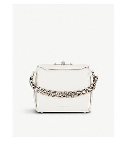 ALEXANDER MCQUEEN Box Bag 16 leather cross-body bag (Off+white