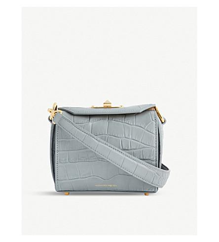 ALEXANDER MCQUEEN Box Bag 16 leather cross-body bag (Smog+grey