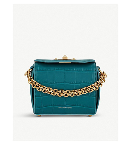 ALEXANDER MCQUEEN Box Bag 16 leather cross-body bag (Jade