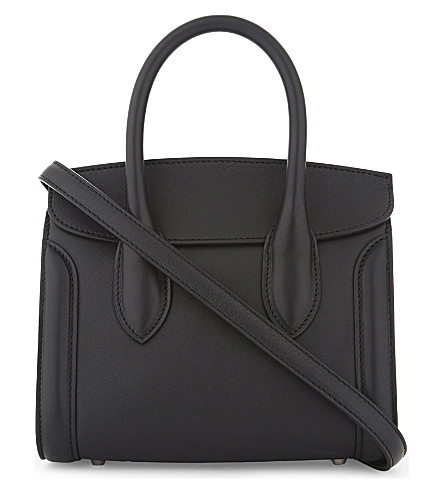 ALEXANDER MCQUEEN Heroine leather mini shoulder bag (Black