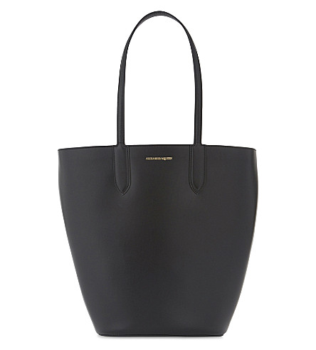 ALEXANDER MCQUEEN Small leather tote (Black