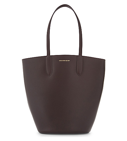 ALEXANDER MCQUEEN Small leather tote (Burgundy