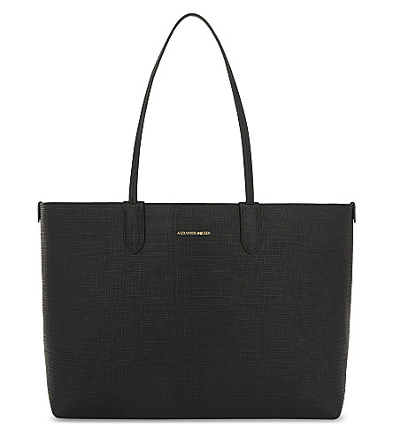 ALEXANDER MCQUEEN Medium leather tote (Black