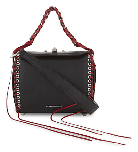 ALEXANDER MCQUEEN Fringed leather shoulder bag (Black