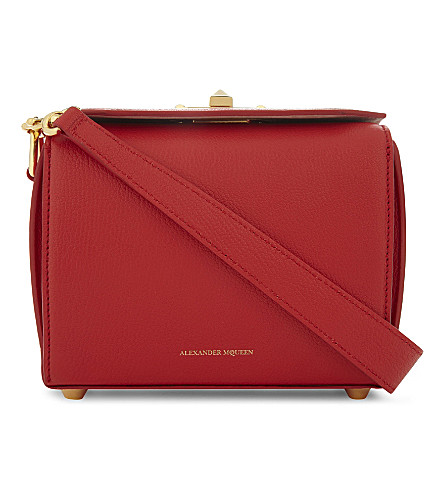 ALEXANDER MCQUEEN 箱包袋 19 皮革斜挎包 (欲望 + 红色)