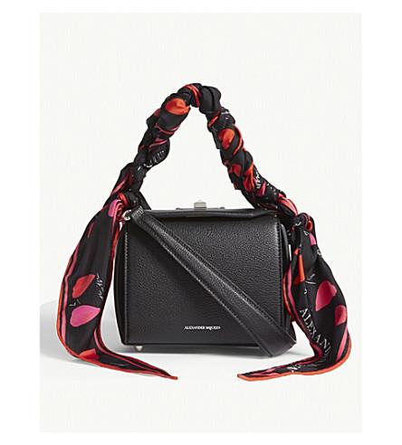 ALEXANDER MCQUEEN Box bag 16 scarf leather cross-body bag (Black