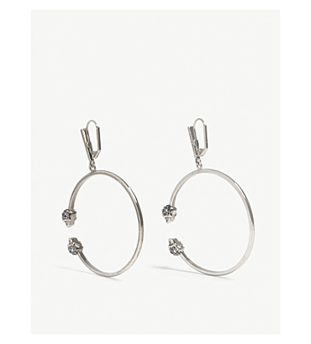 ALEXANDER MCQUEEN Skull hoop earrings (Silver