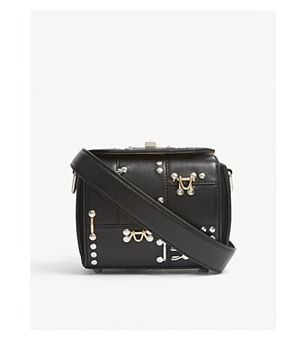 ALEXANDER MCQUEEN Box Bag 16 studded leather cross-body bag (Black