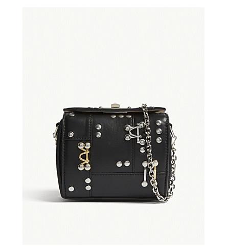 ALEXANDER MCQUEEN Box Bag 19 embellished leather shoulder bag (Black