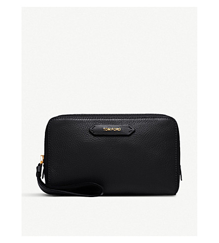 TOM FORD Leather cosmetic bag (Black