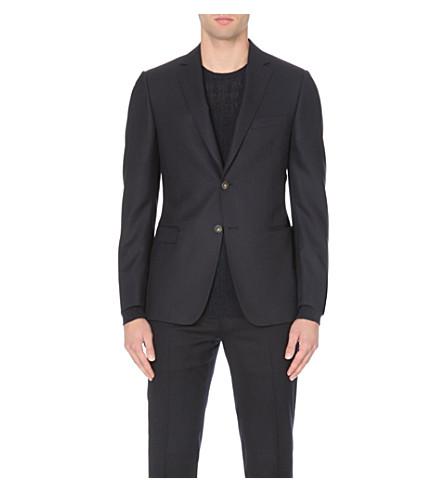 Z ZEGNA Single-breasted wool jacket (Navy