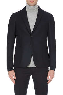 Z ZEGNA Knit-collar tailored wool jacket