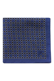 Z ZEGNA Pentagon print pocket square